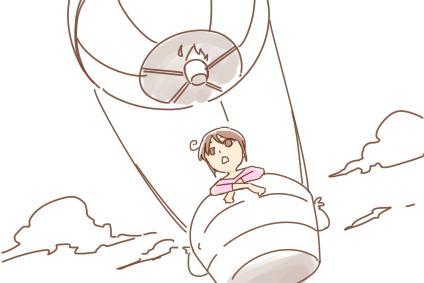 気球からのオープニングといえば