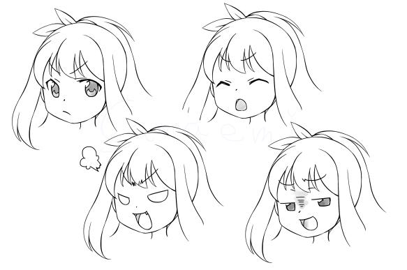 怒りの表情