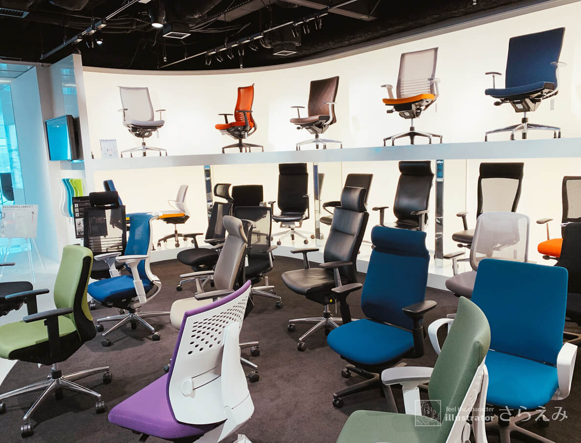 KOKUYO梅田ショールームでオフィスチェアを試してみた